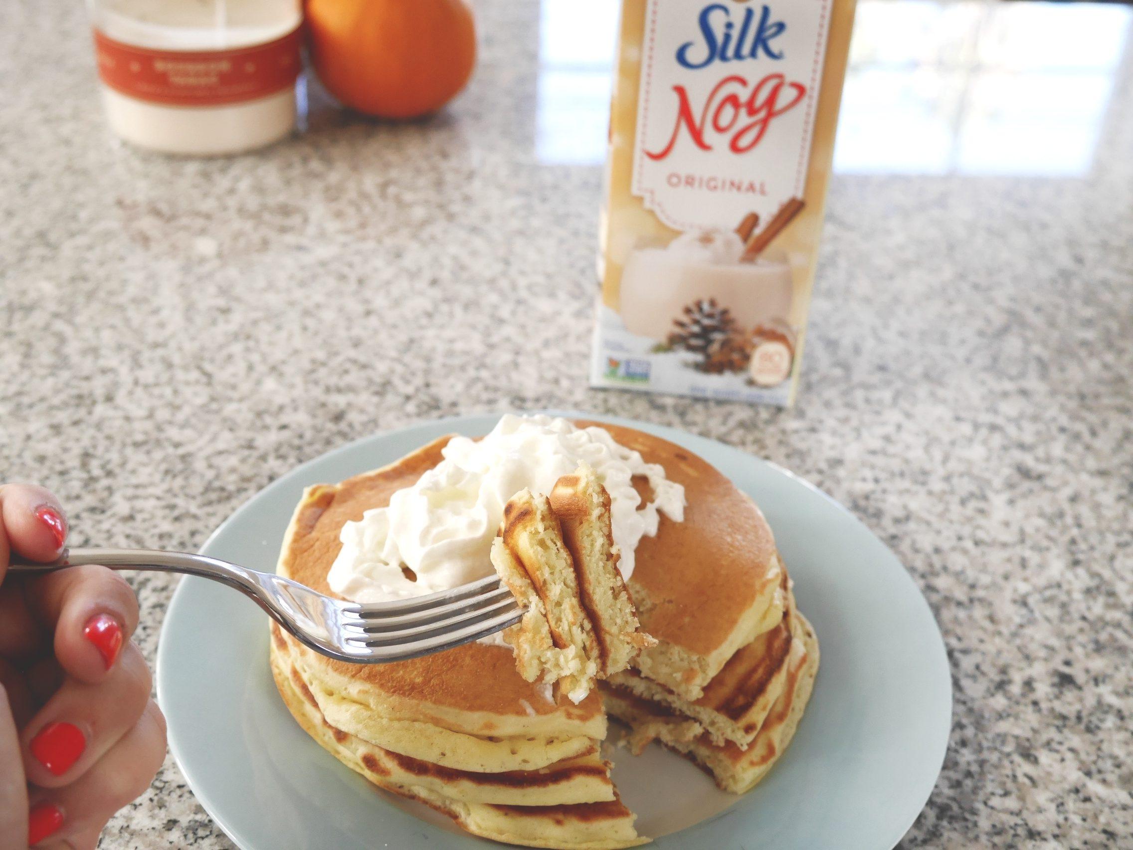 Silk Nog Pancakes