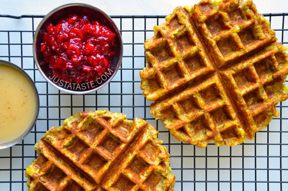 thanksgiving-leftover-stuffing-waffles