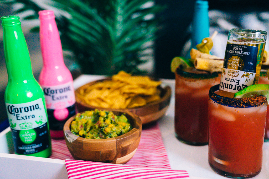 Over the top Michelada Recipe with taquitos and jerky sticks