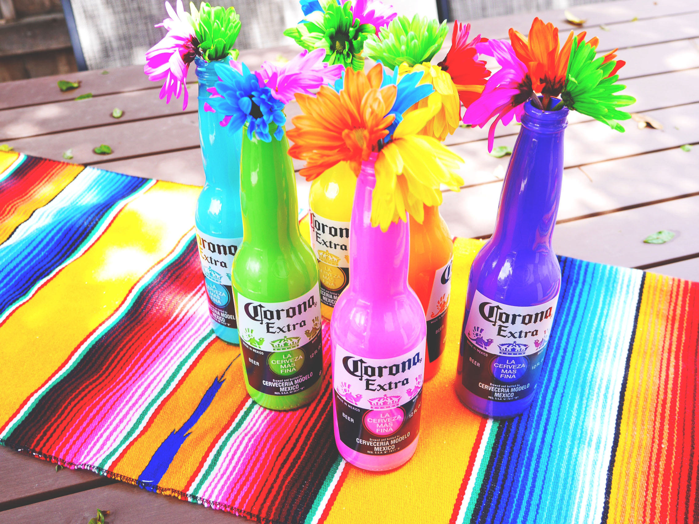 DIY Painted Corona Bottles