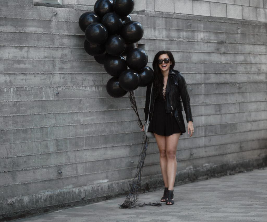Erin Aschow blogger Revenge Bakery - Black Balloon Photoshoot