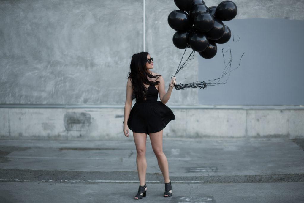 All Black Balloon Photos