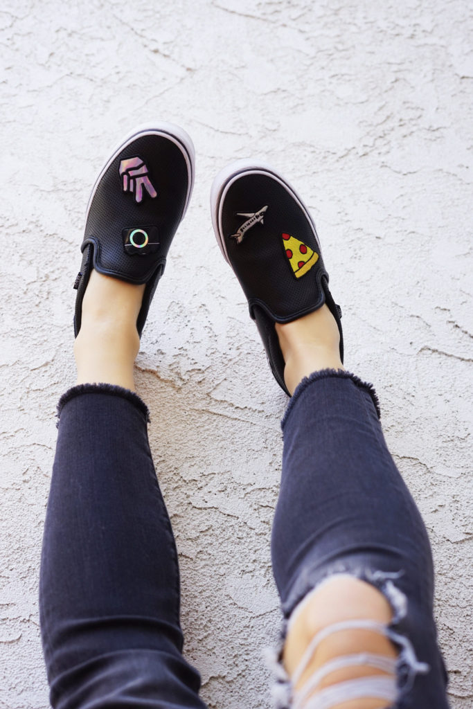 Summer Fashion Patches DIY Vans by Erin Aschow