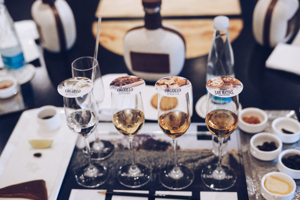 Tequila tasting at Four Seasons Punta Mita, Mexico