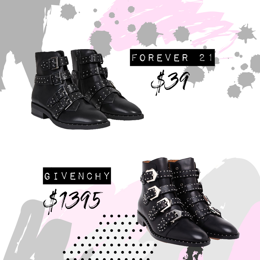 Forever 21 Dupe - Givenchy Studded Boots Knockoff - Fashion Blogger Syle