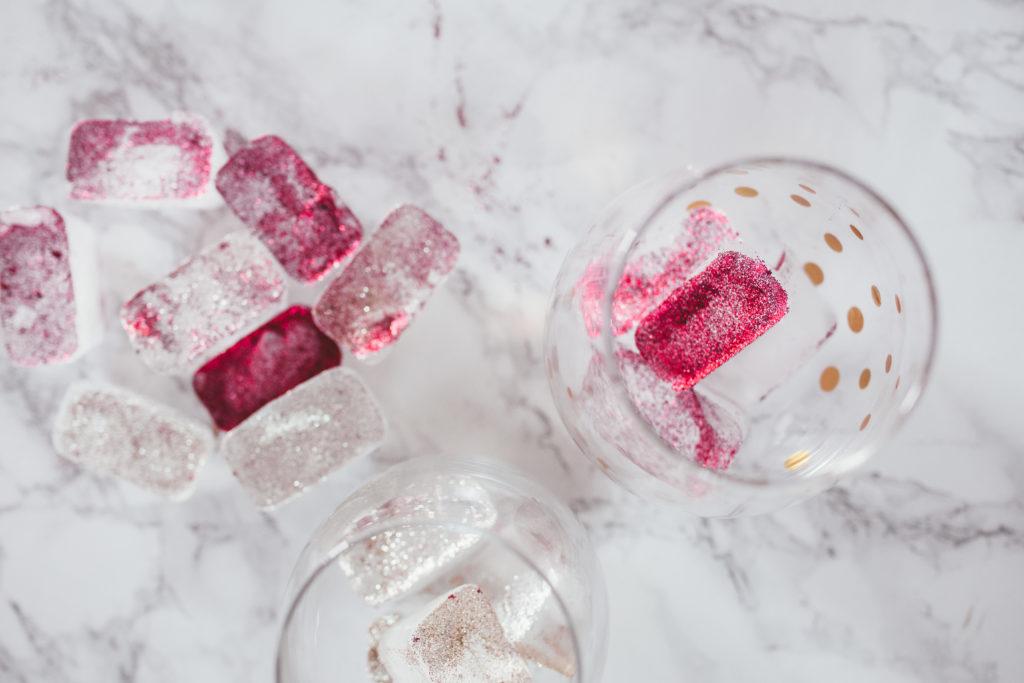 DIY Edible Glitter Ice Cubes Erin Aschow Lifestyle Blog Revenge Bakery