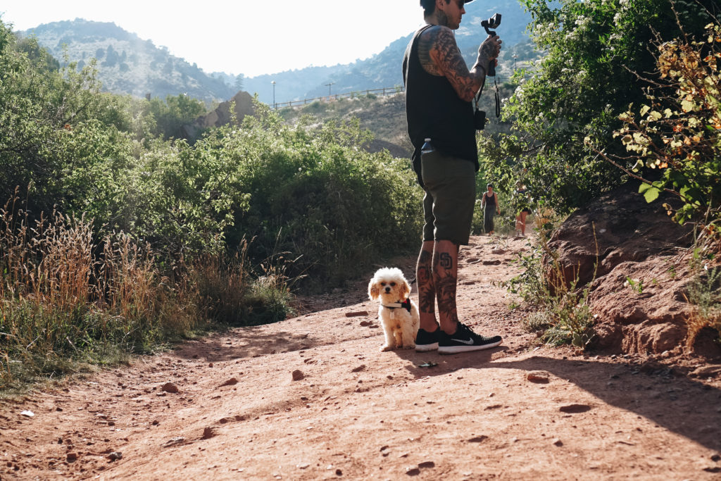Red Rocks Amphitheater Denver Colorado Tony Perry and Doug the Dog Family Hike