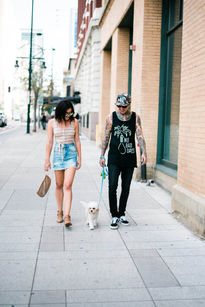 Erin Aschow & Tony Perry with Doug the Dog - Long Distance Relationship Tips