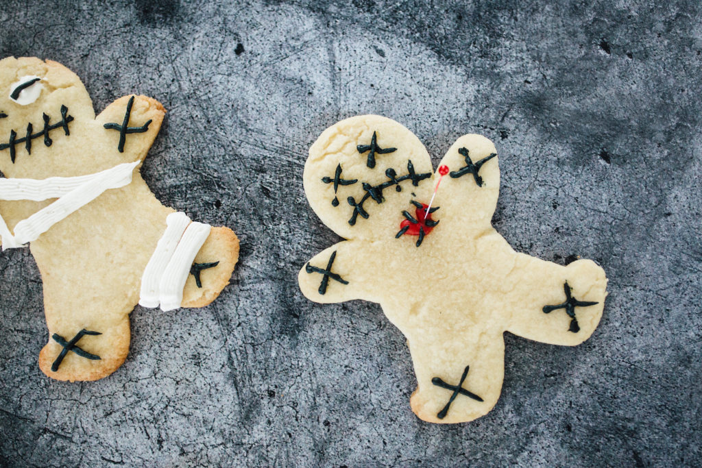 DIY Voodoo Doll Halloween Gingerbread Cookies