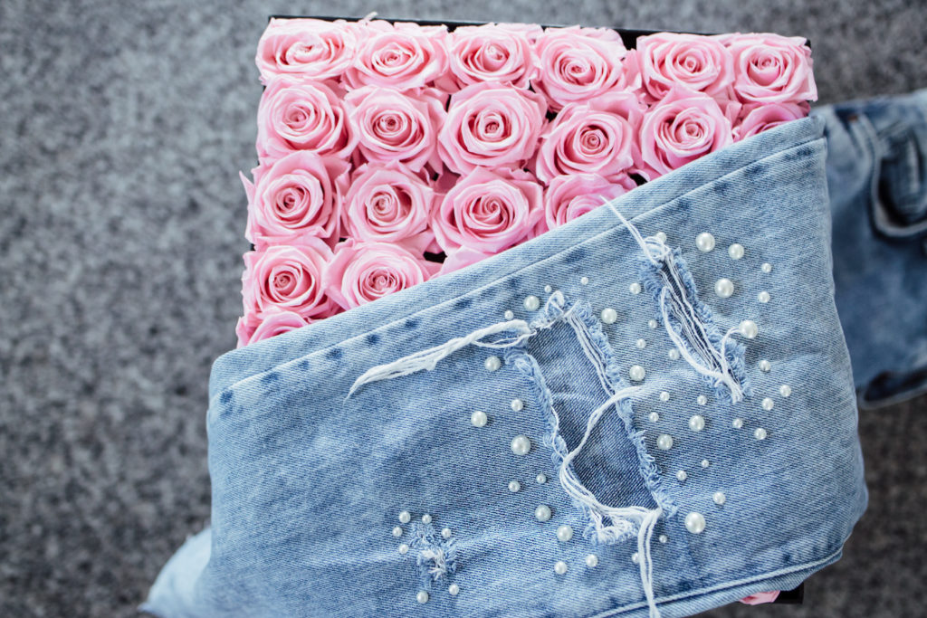 Trash to Couture: DIY Pearl Jeans