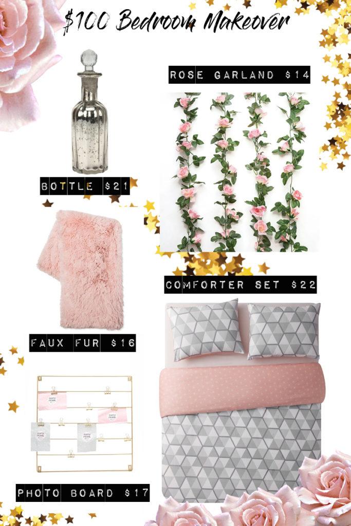 $100 Bedroom Makeover - Romantic Bedroom