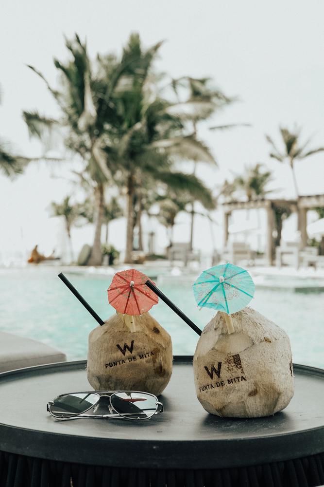 Coconut Cocktails W Punta Mita Hotel