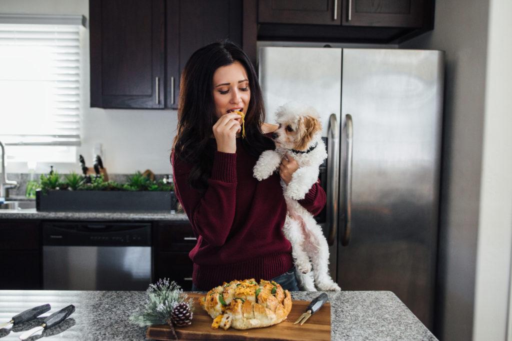 Bacon Jalapeno Popper Cheesy Pull Apart Bread Recipe Erin Aschow Revenge Bakery