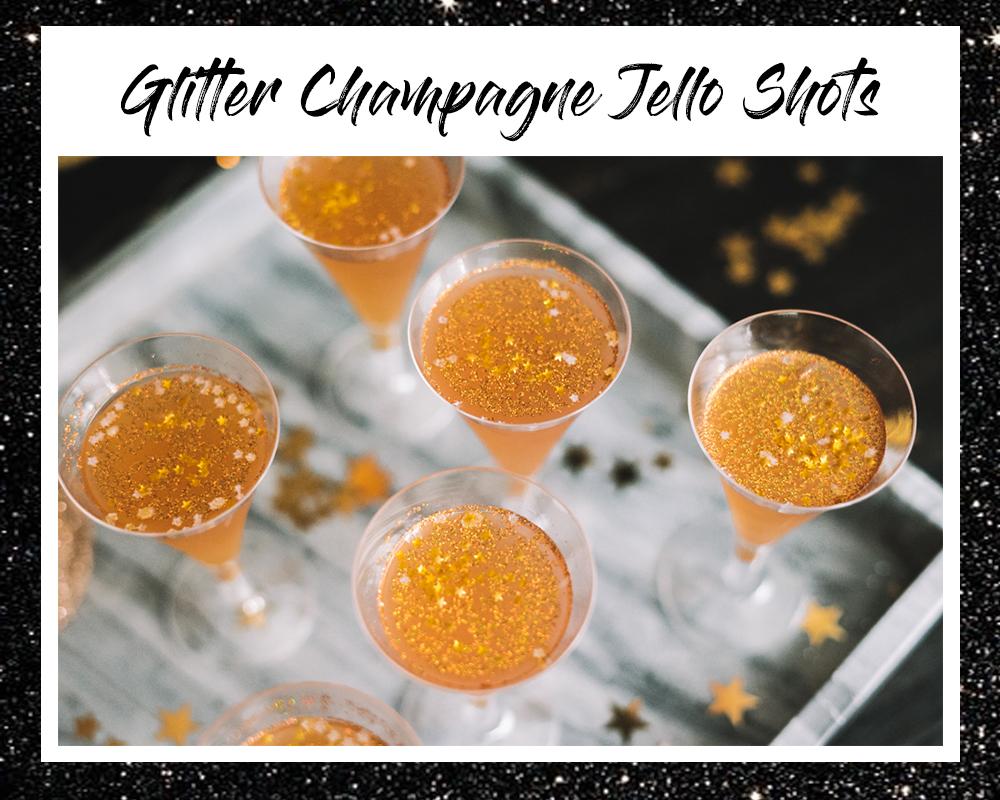 Glitter Champagne Jello Shots Recipe