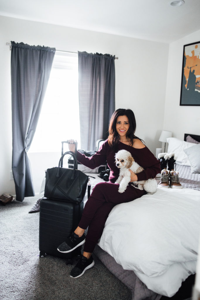 How To Pack Like A Pro. Packing Tips - Erin Aschow Travel Blogger & Doug the Dog luggage and packing