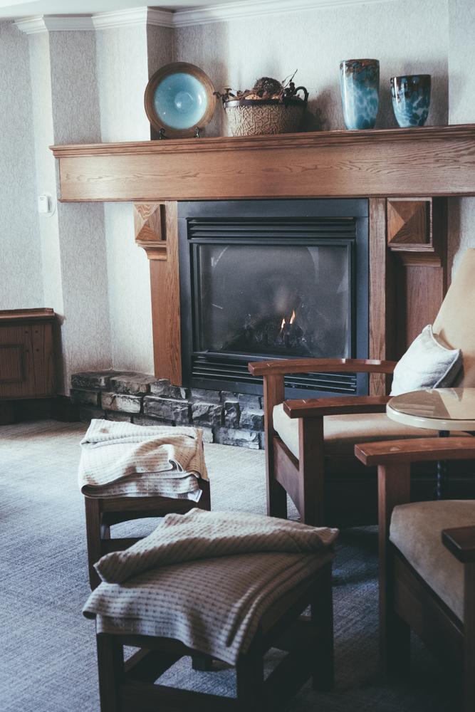 Fairmont Banff Alberta Canada Spa Fireplace
