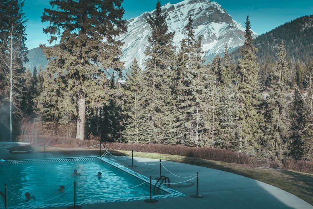 Fairmont Banff Alberta Canada Outdoor Heated Natual Pool
