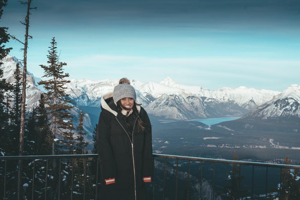 Fairmont Banff Alberta Canada top of banff mountain gondola