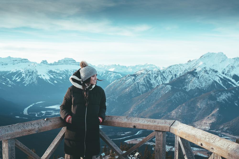Fairmont Banff Alberta Canada top of mountain banff gondola