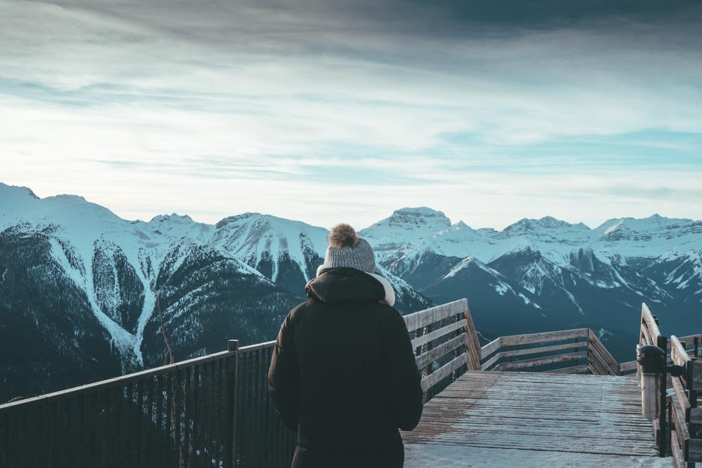 Fairmont Banff Alberta Canada erin aschow blogger top of mountain