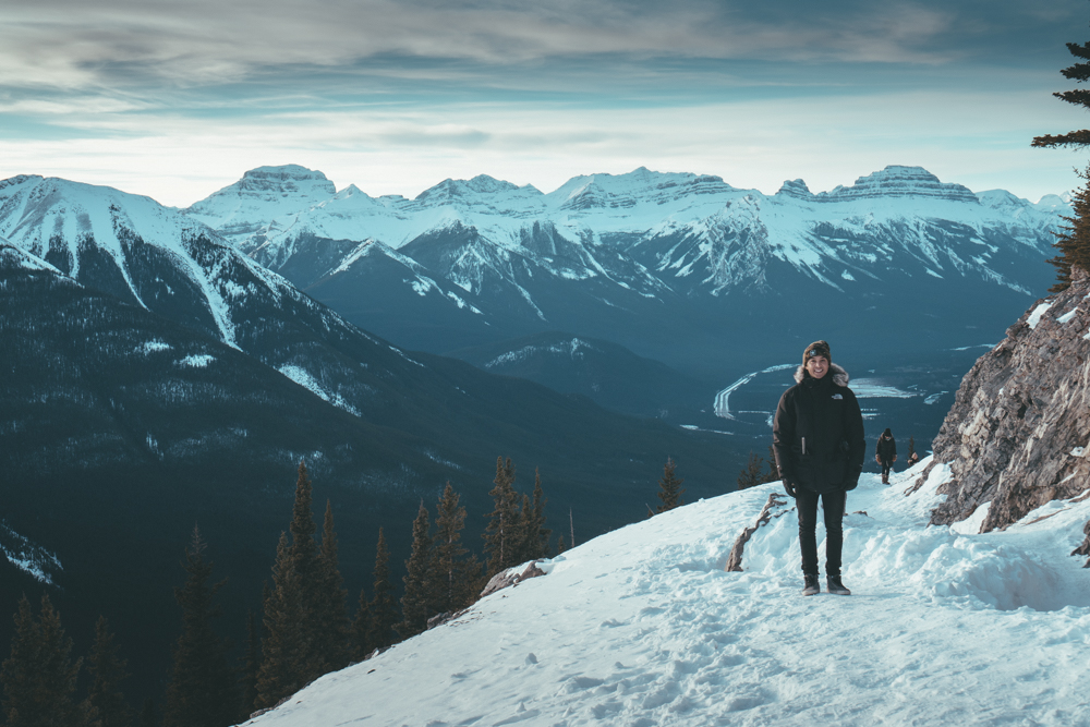 Fairmont Banff Alberta Canada tony perry in snow