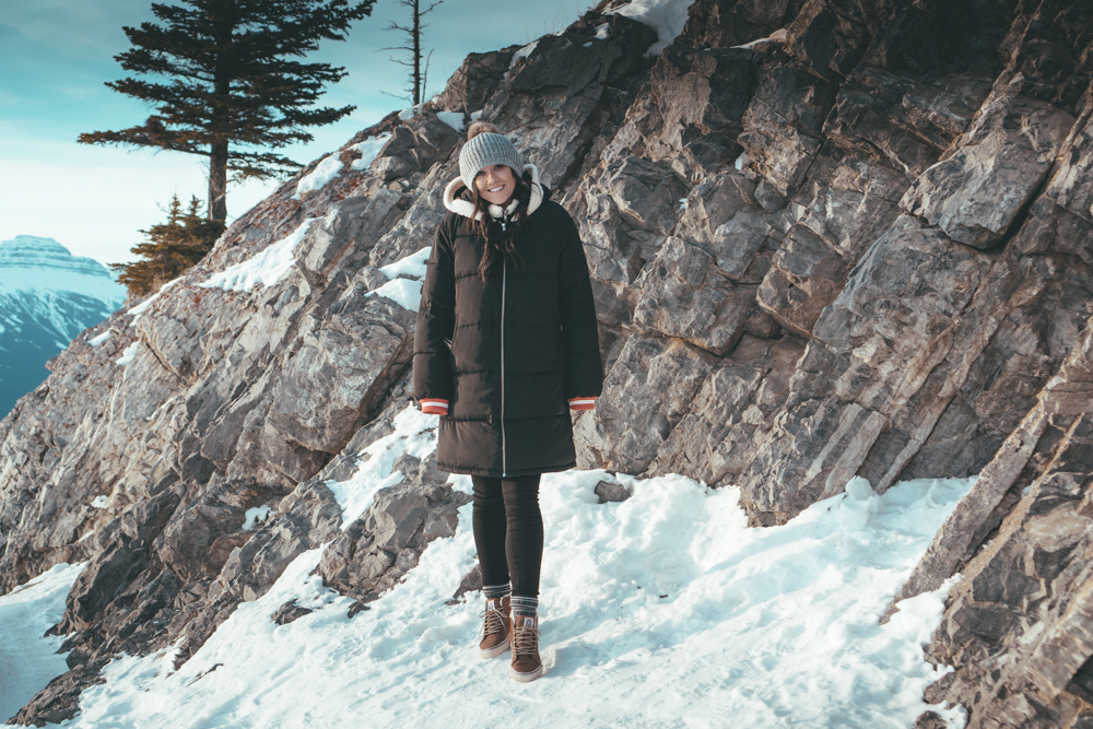 Fairmont Banff Alberta Canada erin aschow blogger in snow
