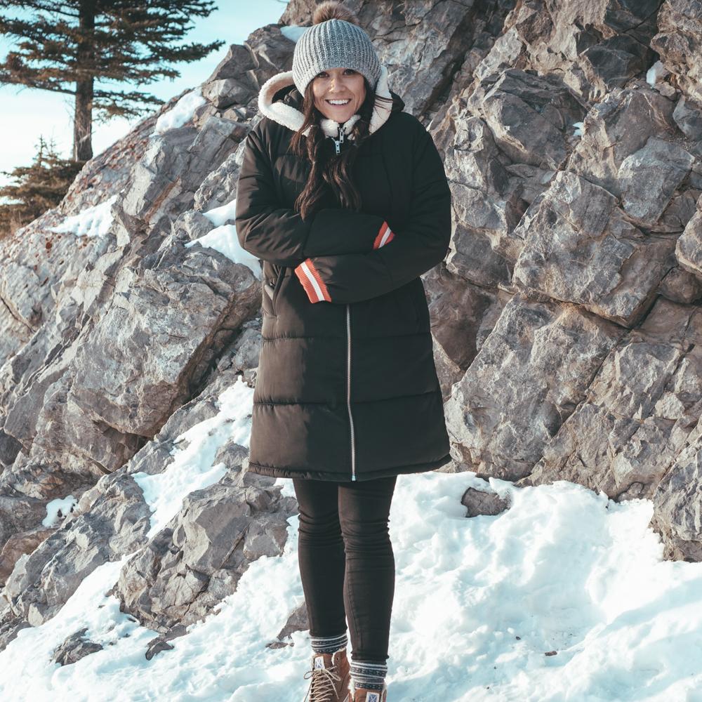 Fairmont Banff Alberta Canada erin aschow blogger playing in snow