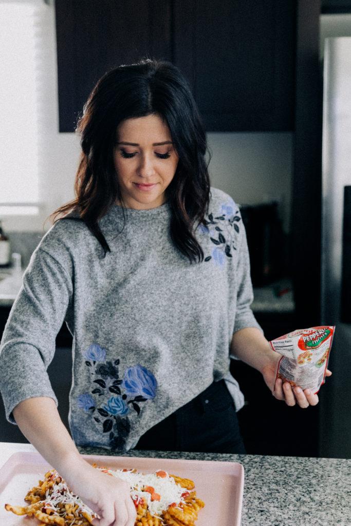 Erin Aschow Food Blogger Revenge Bakery - Waffle Cut Pizza Fries Recipe