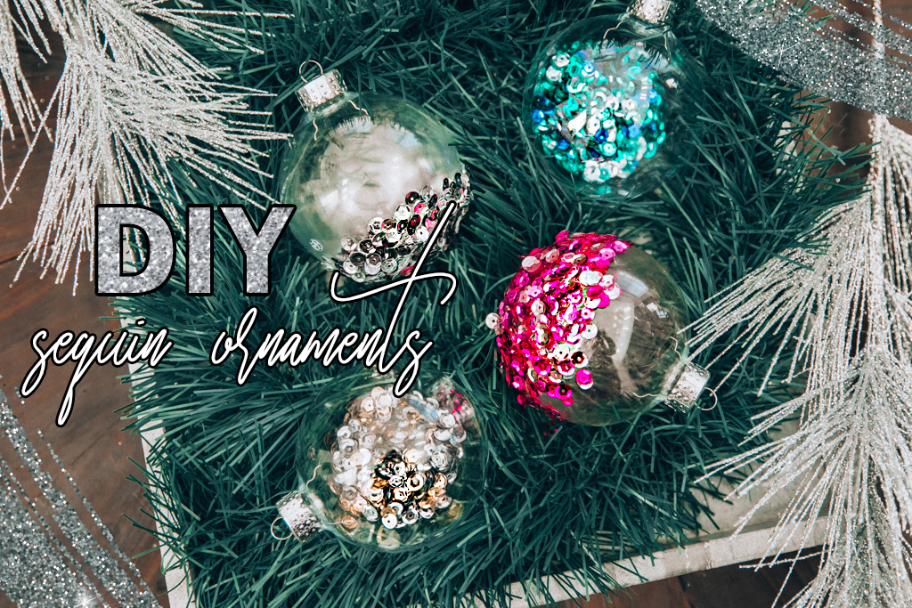 Diy Sparkly Sequin Christmas Tree Ornament Tutorial